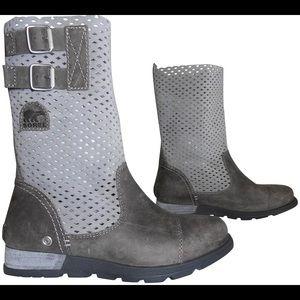 Sorel Grey Mid-calf Leather 8 GUC